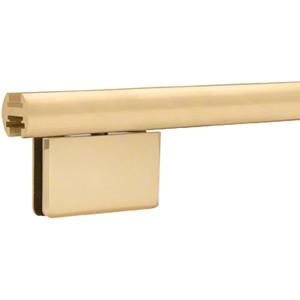 "Satin Brass 95"" EZ-Adjust Shower Door Header Only"