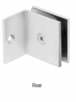 CRL SGC037SC Satin Chrome Fixed Panel Square Clamp With Small Leg