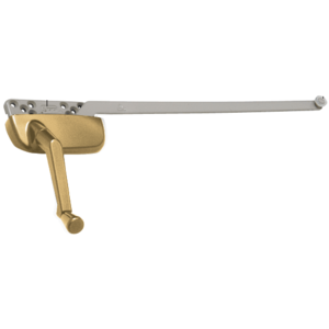 "Gold Left Hand Ellipse Style Casement Operator with 13-1/2"" Single Arm"