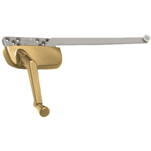 "Gold Left Hand Ellipse Style Casement Operator with 9-1/2"" Single Arm"
