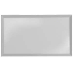 Gray Quad Blank Without Screw Holes Glass Mirror Plate