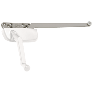 "White Left Hand Ellipse Style Casement Operator with - 9-1/2"" Single Arm"