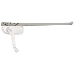 """White Left Hand Ellipse Style Casement Operator with 13-1/2"""" Single Arm"""