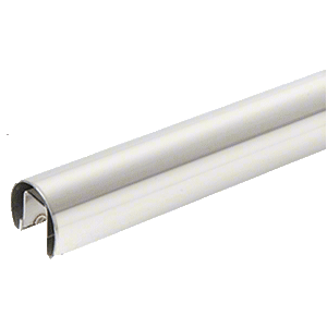 """316 Polished Stainless 1.66"""" Premium Cap Rail for 1/2"""" Glass - 120"""""""