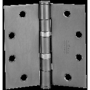 "McKinney TA2714526D 5"" x 5"" Square Corner Standard Weight 5 Knuckle Ball Bearing Hinge # 56149 Satin Chrome Finish"