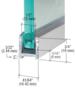 CRL DUC516BA Brite Anodized Dry Glaze U-Channel With Vinyl