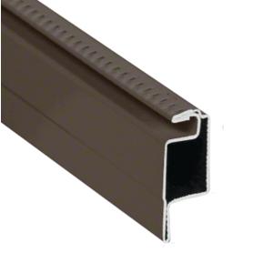"Bronze 5/16"" Roll Formed Aluminum Standard Lip Screen Frame - 144"""