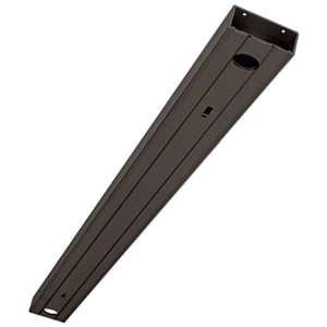 """Clear Anodized 2"""" x 4-1/2"""" 451 Series Header Prepped for Center Hung Overhead Concealed Closers"""