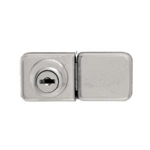 CRL UV417BNKA Brushed Nickel UV Bond Classic Series Glass Door Lock and Keeper for Double Doors - Keyed Alike