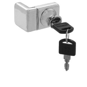 CRL UV4071BNKA Brushed Nickel UV Glass Door Lock for Inset Doors - Keyed Alike