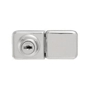 CRL UV417CHKA Chrome UV Bond Classic Series Glass Door Lock and Keeper for Double Doors - Keyed Alike