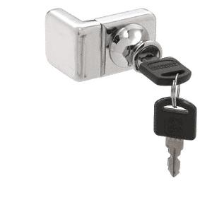Chrome UV Glass Door Lock for Inset Doors - Keyed Alike