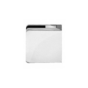 "Chrome Z-Series Square Type Flat Base Zinc Clamp for 3/8"" and 1/2"" Glass with Repositionable Plate"