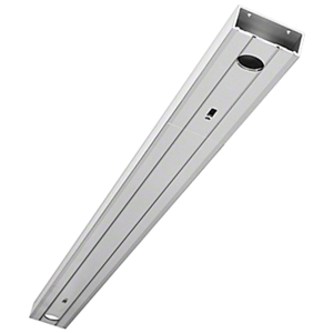 "Clear Anodized 2"" x 4-1/2"" 451 Series Header Prepped for Center Hung Overhead Concealed Closers"