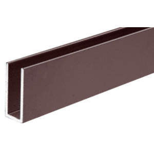 "CRL D623DU Duranodic Bronze 1/4"" Single Channel with 1"" High Wall"