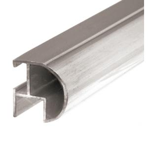 "CRL BF144SC Satin Chrome Bull Nose Mirror Frame Extrusion 144"" Stock Length"