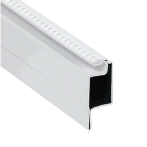 "CRL WSFL7W White 5/16"" Roll Formed Aluminum Standard Lip Screen Frame - 144"""