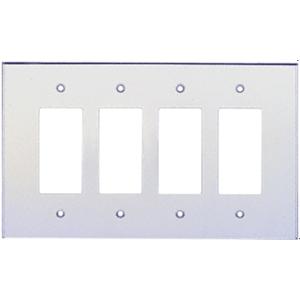 Clear Quad Designer Acrylic Mirror Plate