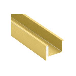 "CRL Blumcraft EB500SB Satin Brass Wet Glaze U-Channel for 1/2"" (12 mm) Glass 120"""