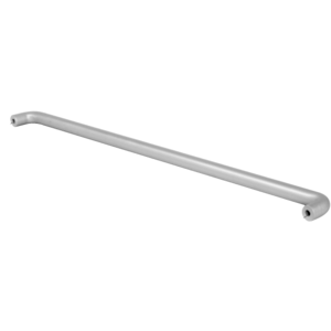 "CRL-U.S. Aluminum PR0311136 Clear Anodized Astral II Solid Push Bars for 36"" Single Acting Offset Door"