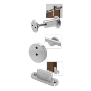 CRL LSWMADT Brushed Stainless Laguna Sliding Door Hardware Adaptor Kit for Wood Doors