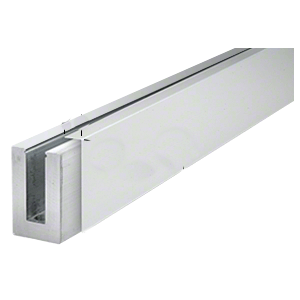 CRL LBSCSA10 Satin Anodized 3 m Cladding for L56S, L21S, and L25S Series Square Aluminum Base Shoe