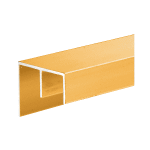 Gold Anodized Surface Mount Double Channel Extrusion