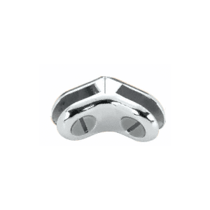 CRL ZLC7CH Chrome Two-Way 120 Degree Display Connector