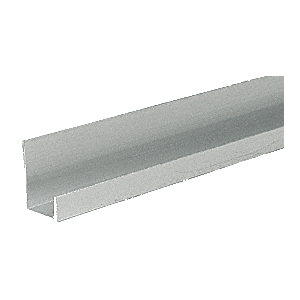 "CRL D12A Satin Anodized Aluminum 1/2"" J-Channel"