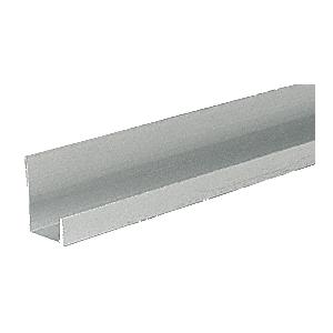 """Satin Anodized Aluminum 1/2"""" J-Channel"""