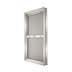 "CRL BAP2080BS Satin Anodized 14-3/4"" x 30-1/8"" Bel-Air ""Plaza"" Combination Door Unit With Obscure Tempered Glass and Mill Frame for 2-0 Slab Door"