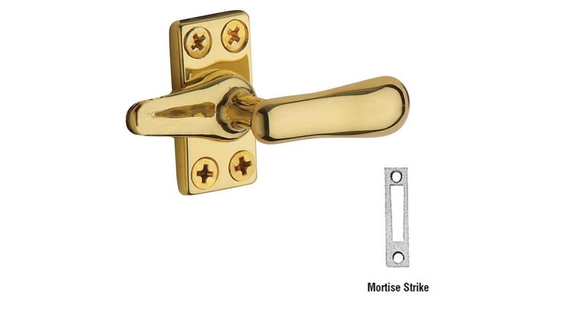 Baldwin 0494060 Casement Fastener Antique Brass with Brown