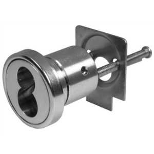 Schlage Commercial 20-079 626 Full Size Interchangeable Rim Housing Less Core with Convertible Tailpiece Satin Chrome Finish