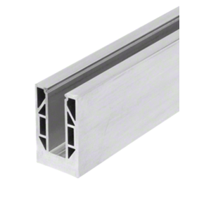 "CRL 8B20F 8B Series Mill Aluminum 240"" Square Base Shoe Fascia Mount Drilled"