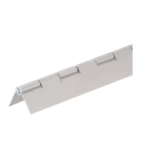 "CRL 6D665A Satin Anodized 3/4"" Aluminum Piano Hinge - 6' 72"" Stock Length"