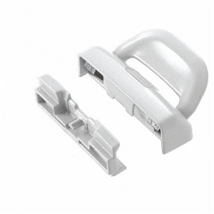 CRL F2732 White Sash Lock and Keeper for Milgard Windows