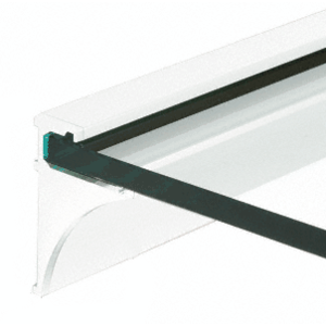 "White 36"" Aluminum Shelf Kit for 3/8"" Glass"