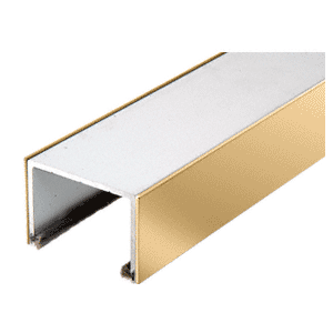 CRL SD1TTPB Polished Brass Sliding Door Top Rolling Track