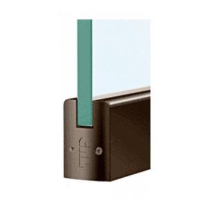 "CRL DR2SDU38P Black Bronze 3/8"" Glass Low Profile Square Door Rail Without Lock - 8"" Patch"