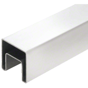 "CRL SRF15PS 316 Polished Stainless 1-1/2"" Square Roll Formed Cap Rail - 19'-8"""