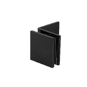 CRL SGC039MBL Matte Black Fixed Panel Square Clamp With Large Leg
