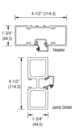"""CRL-U.S. Aluminum FD12511 Clear Anodized Class 1 75-1/2"""" x 85-3/4"""" Series DF800 Tubular Butt Hinge Up and Over Frame Complete (2F)"""