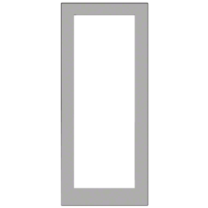 Clear Anodized Custom Size Single Blank 550 Wide Offset Hung Entrance Door - No Prep