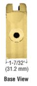 "CRL Z412BR Brass Z-Series Round Type Flat Base Zinc Clamp for 1/2"" Glass"