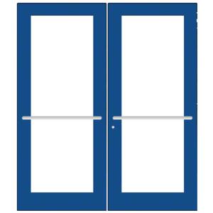 CRL-U.S. Aluminum DC52771 Custom KYNAR Paint Custom Pair Series 550 Wide Stile Center Pivot Entrance Door for Overhead Concealed Door Closers