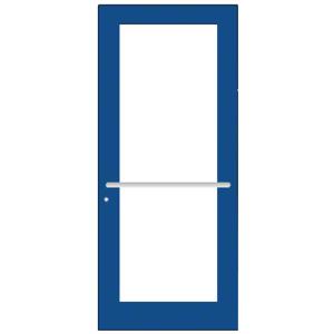 CRL-U.S. Aluminum DC51771 Custom KYNAR Paint Custom Single Series 550 Wide Stile Center Pivot Entrance Door for Overhead Concealed Door Closer