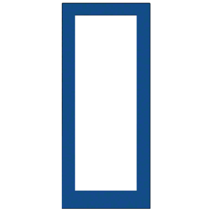 "Custom KYNAR Paint Single 36"" x 84"" Blank 550 Wide Offset Stile Entrance Door"