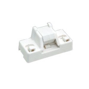White Plastic Step-On Patio Door Lock