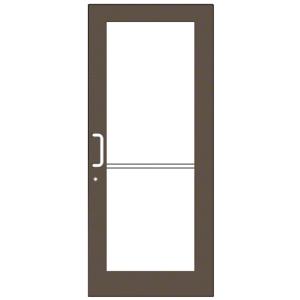 Bronze Black Anodized Custom Single Series 550 Wide Stile Geared Hinge Entrance Door for Surface Mount Door Closer