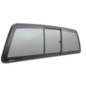 "CRL ECT664S ""Perfect Fit"" Three-Panel Tri-Vent Sliders with Solar Glass for 2004+ Nissan Titan"